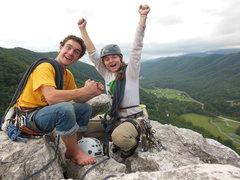 Rock Climbing Photo: Stoked?