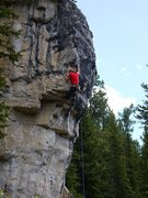 "Rock Climbing Photo: SteveZ flashing ""Yeah"", 5.12c on the WOW..."
