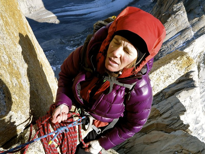 Rock Climbing Photo: Nice view, not so nice seat.  (I am hanging.)