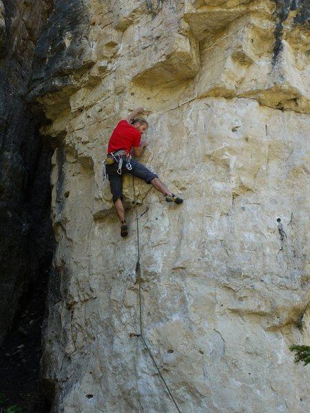 Rock Climbing Photo: Steve sending this sweet route.