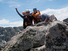 Rock Climbing Photo: Sharkstooth Summit - my first alpine climb