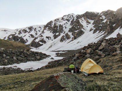 Rock Climbing Photo: Snow conditions as of 6/14/13.