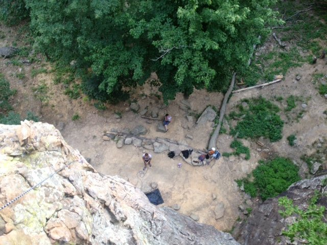 Rock Climbing Photo: View from the top, near Cotton Candy.