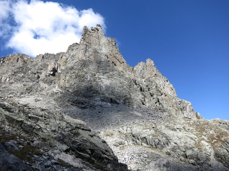 Rock Climbing Photo: South face of Shoshoni, September 2012.