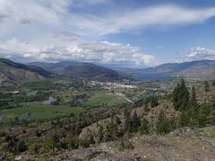 Rock Climbing Photo: View North from upper Whistler Canyon (top of Band...