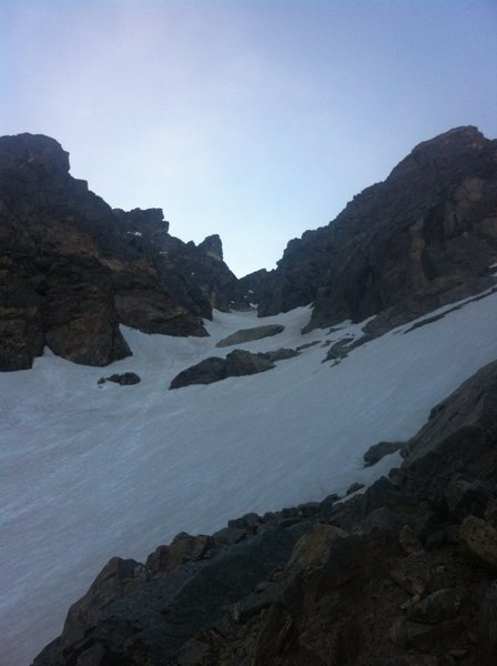 The lower end North Star Couloir.