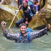 Rock Climbing Photo: Hiking Subway canyon in Zion N.P.