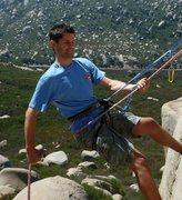 Rock Climbing Photo: Rapelling Mt. Woodson
