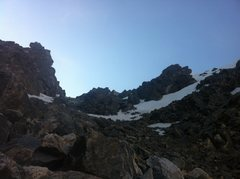 Rock Climbing Photo: The view up the final, mostly dry section of &quot...
