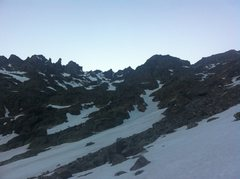 "Rock Climbing Photo: View on approach to ""North Star Couloir""..."