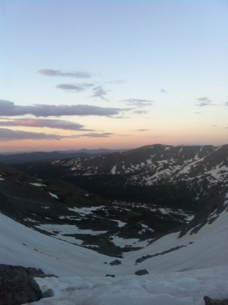 View from the Col to the West of S Arapaho Peak.
