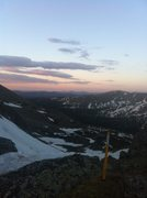 """Rock Climbing Photo: Sunrise on the Col. En route to """"North Star C..."""