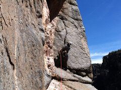Rock Climbing Photo: The traverse and supposed 5.11? More like .11+ for...