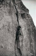 Rock Climbing Photo: After the steep hands section, getting into the wi...