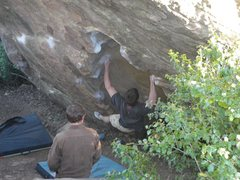 Rock Climbing Photo: Crux reach