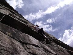 Rock Climbing Photo: Climbing the Guppy!