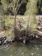 Rock Climbing Photo: Crossing the creek.