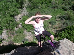 Rock Climbing Photo: Hanging out at the top of Turkey Jerky, should hav...