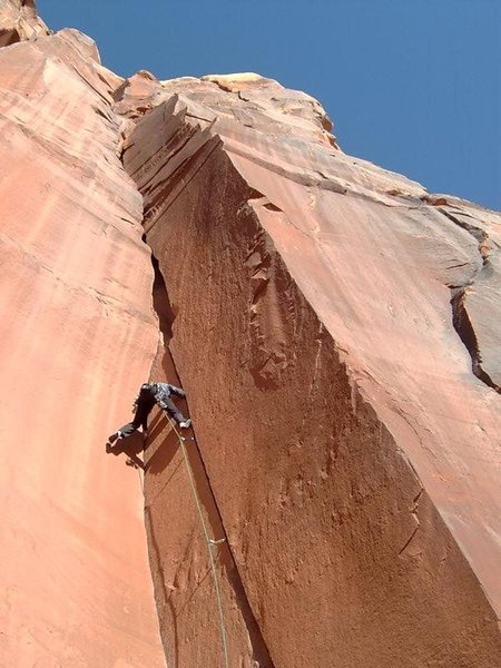 Rock Climbing Photo: Ted Baker on the splendid but un-named 5.10+