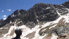 Rock Climbing Photo: Red line - ascent. Blue line - descent.