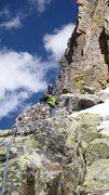 Rock Climbing Photo: On route (off rocker).