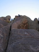 Rock Climbing Photo: The line laid out with the quickdraws.