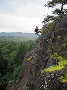 Rock Climbing Photo: A fun wet day - rapping down Lazarus