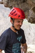 Rock Climbing Photo: Really not sure what this face was about!  HCR