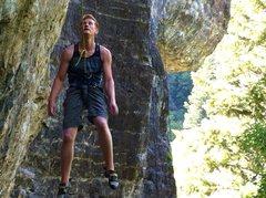 Rock Climbing Photo: Blew the crux...