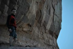 "Rock Climbing Photo: Chris's ""No really I love hiking in at 4:30 A..."
