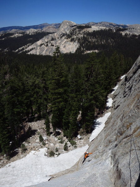 James follows the first pitch of Lucky Streaks. DAFF Dome in the background. June 2013. <br> <br> Photo: Corey Gargano