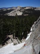 Rock Climbing Photo: James follows the first pitch of Lucky Streaks. DA...