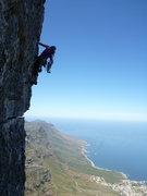 Rock Climbing Photo: The traverse pitch.