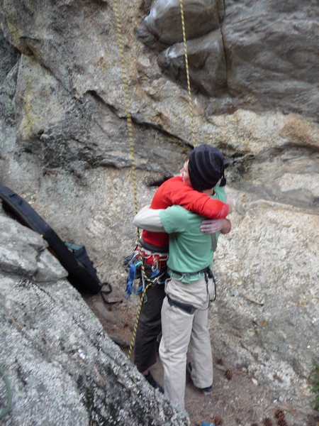 "Rock Climbing Photo: ""keep your friends close and your belayers cl..."