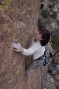 Rock Climbing Photo: This is what happens when you guess a route's grad...
