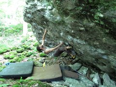 """Rock Climbing Photo: Parlier on Freedom Eagle, gastoning the """"eagl..."""