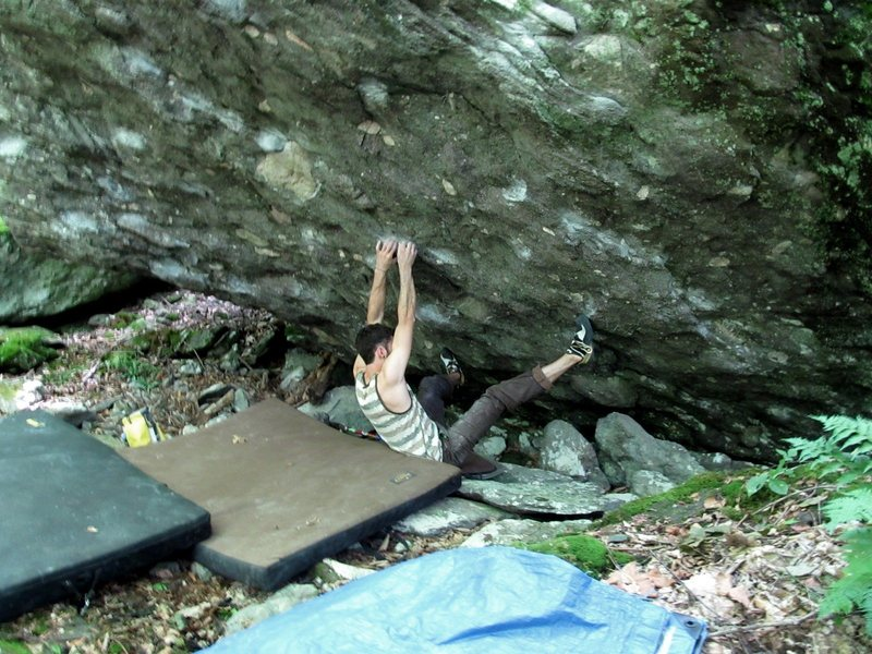 Rock Climbing Photo: Parlier starting Freedom Eagle