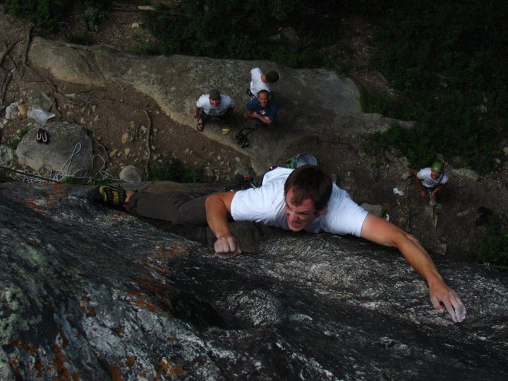 Rock Climbing Photo: Russell Gordon fighting for his life. Figuratively...