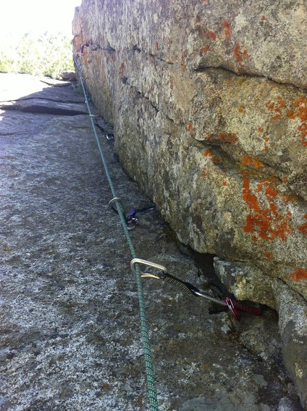 Rock Climbing Photo: Upper section on pitch 1.