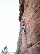 Rock Climbing Photo: AC on his first attempt of the day.  The crux shut...