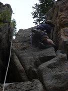 Rock Climbing Photo: Enjoying the crack.