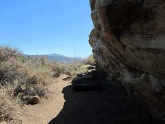 Shade at the boulders