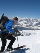 Rock Climbing Photo: Starting the ski descent, beautiful conditions eve...