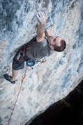 Rock Climbing Photo: Pawel pulling one of the last steep moves before t...