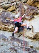 Rock Climbing Photo: Patty startin' up Jug-A-Lug