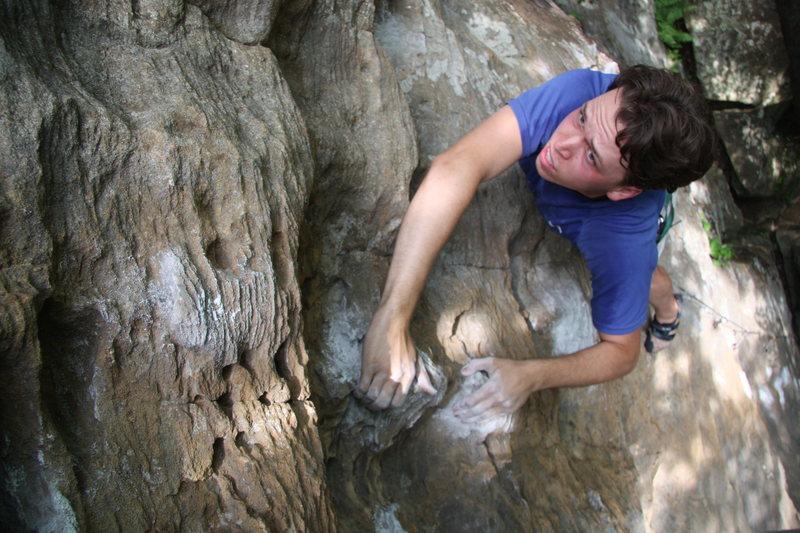 Rock Climbing Photo: Approaching the anchors of Hurt 5.10c