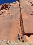 Rock Climbing Photo: Pat beneath the route.