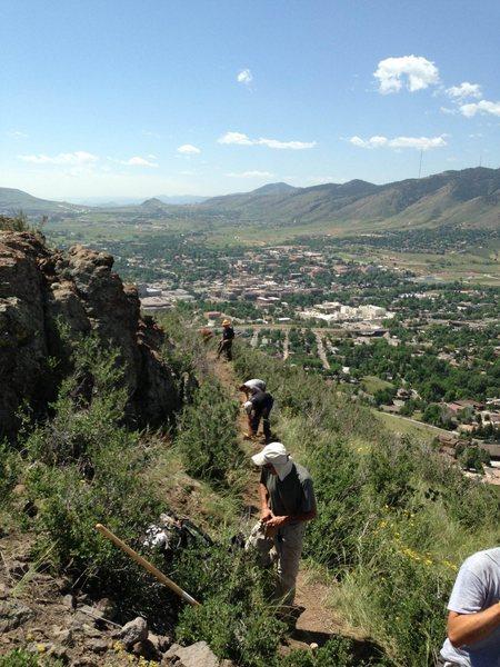 Rock Climbing Photo: Trail Building Workshop #2