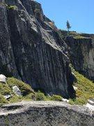 Rock Climbing Photo: Climber on Velvet Gloves (5.10b)