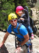 Rock Climbing Photo: Trad Dad and 18 month old daughter.